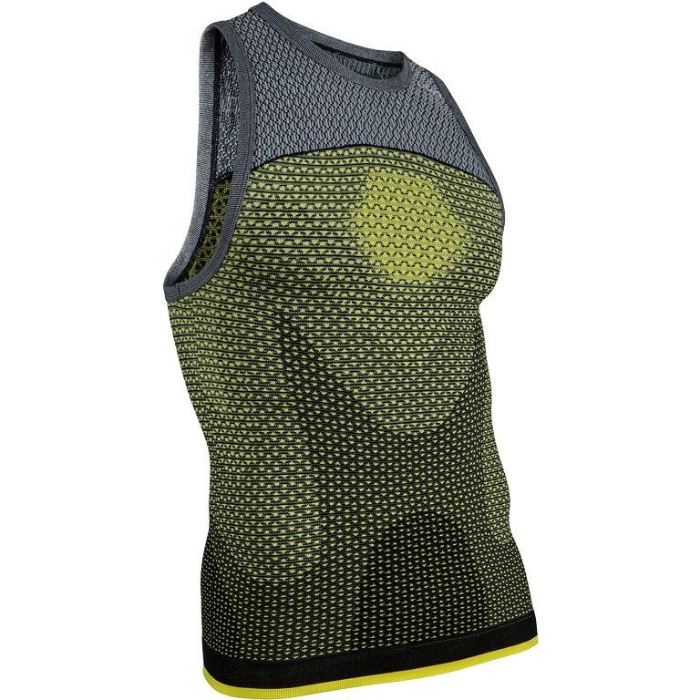 Image of UYN Alpha Running Sleeveless Shirt - Tonic Yellow/Sleet Grey