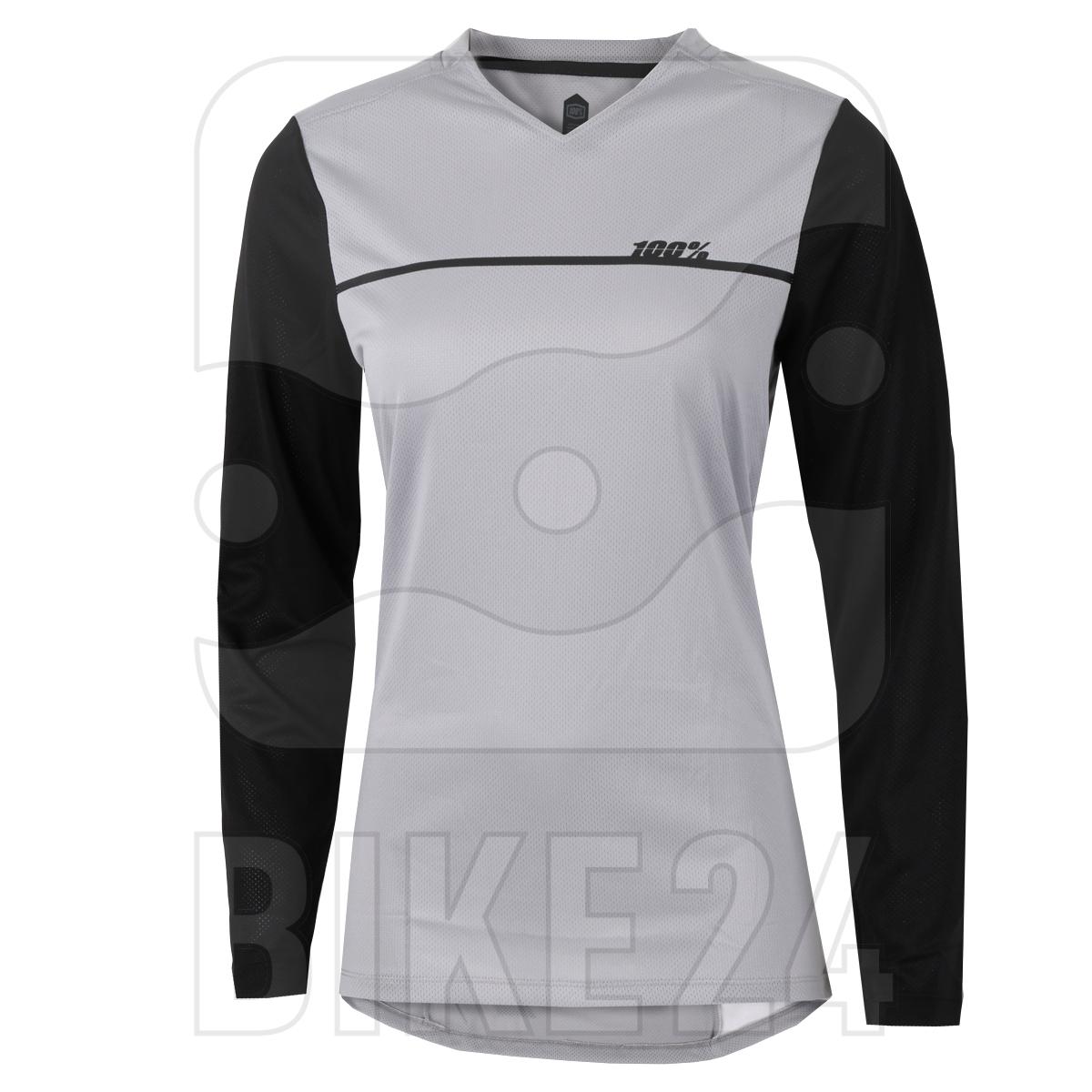 100% Ridecamp Long Sleeve Women's Jersey - Grey / Black