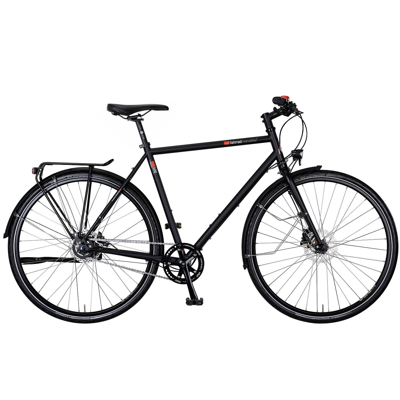 vsf fahrradmanufaktur T-500 Disc Alfine - Herren Trekkingrad - 2021 - ebony matt