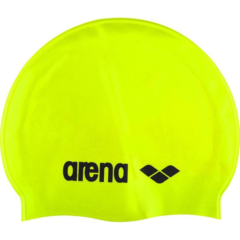 arena Classic Silicone Swim Cap - acid lime/black