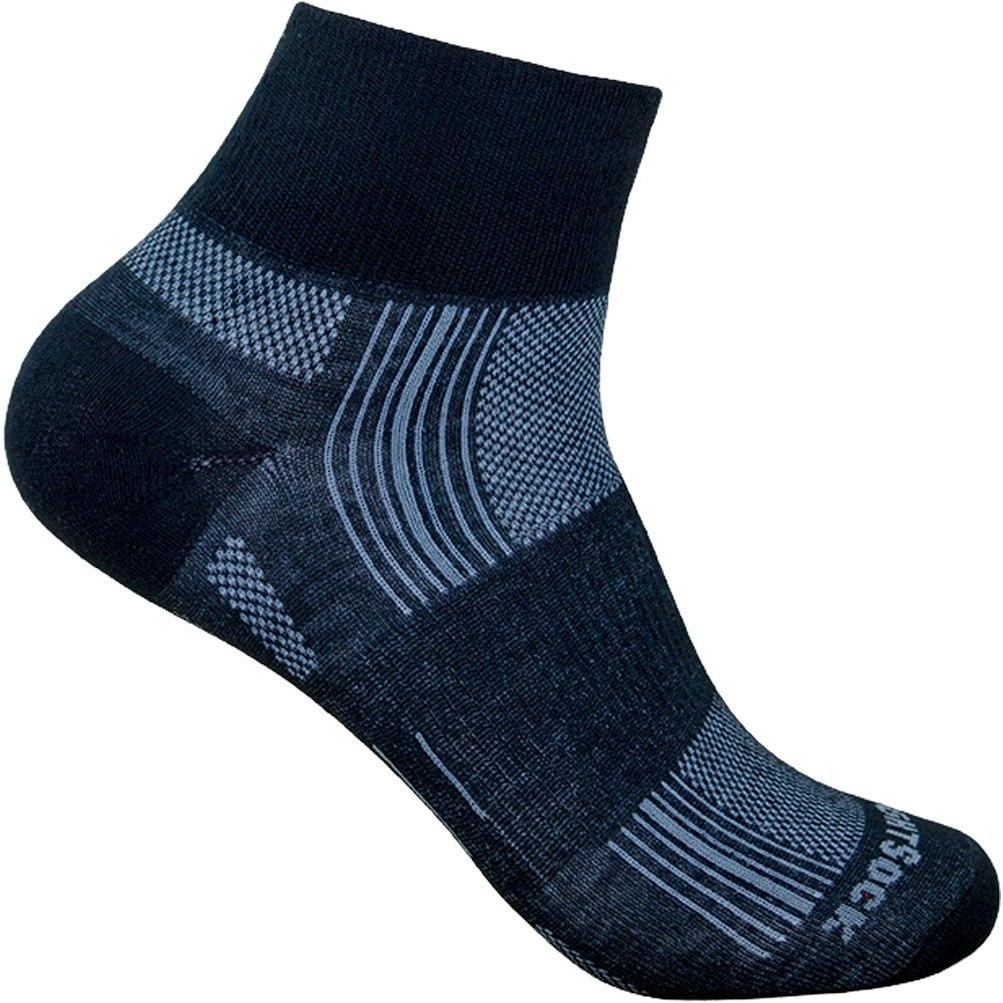 WRIGHTSOCK Stride Quarter Doppellagige Socken - black - 825-03