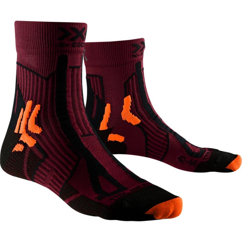 X-Socks Trail Run Energy Laufsocken - sunset orange/opal black