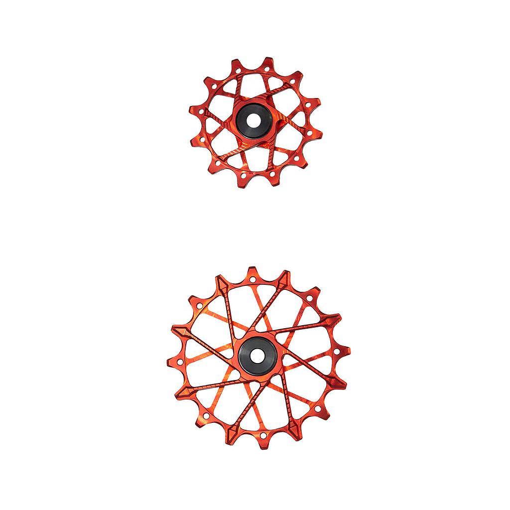 Garbaruk Derailleur Pulleys for Shimano 11-speed Rear Derailleurs with Garbaruk Cage (Pair) - 11T + 16T