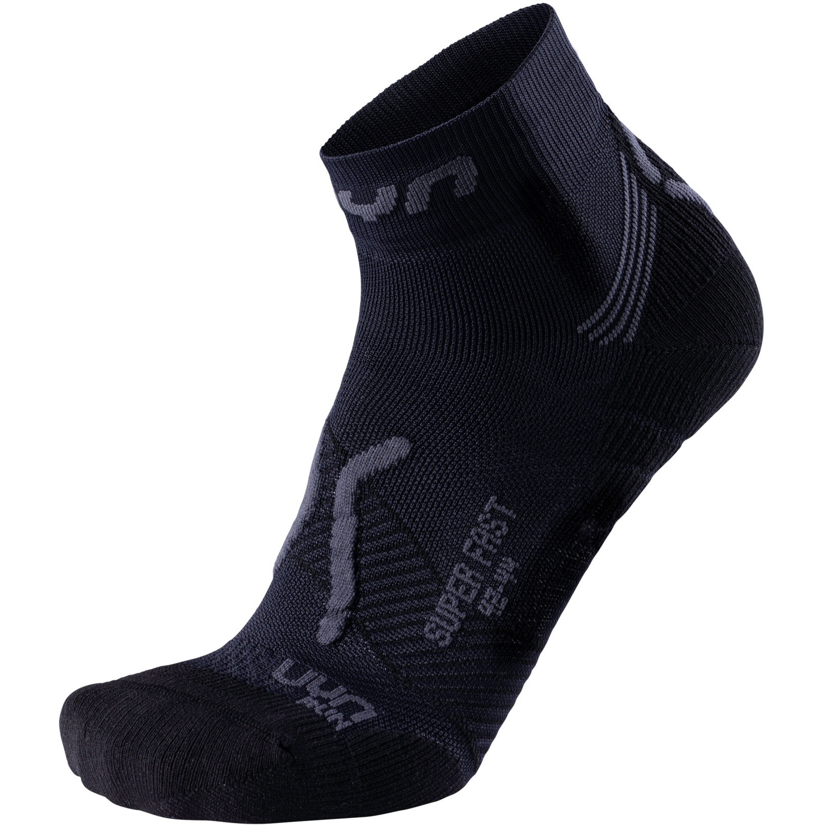 UYN Running Super Fast Socken - Black/Anthracite