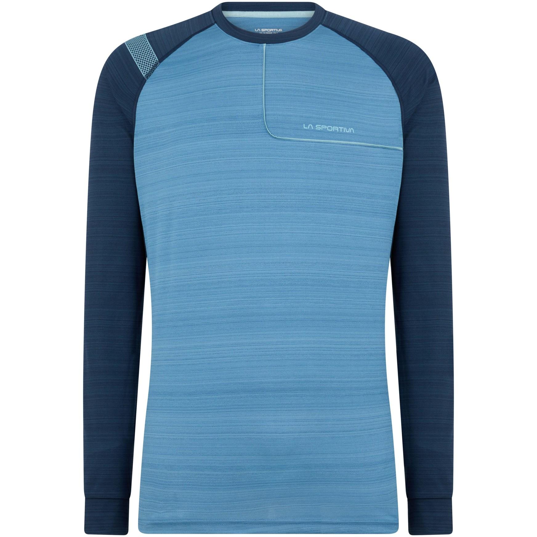 La Sportiva Tour Langarmshirt - Night Blue/Cedar