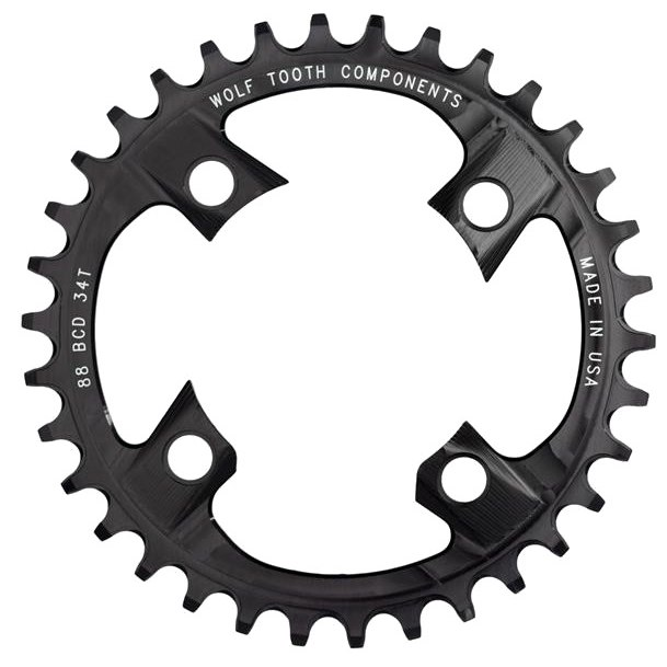 Wolf Tooth Single Chainring 88mm XTR M985 - Drop Stop - black