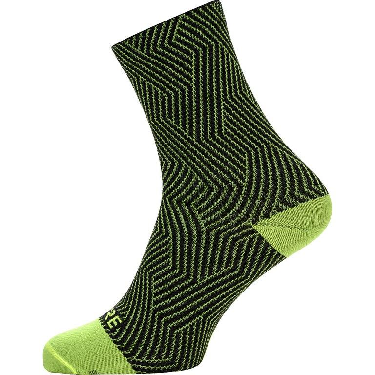GORE Wear C3 Optiline Mid Socks - neon yellow/black 0899