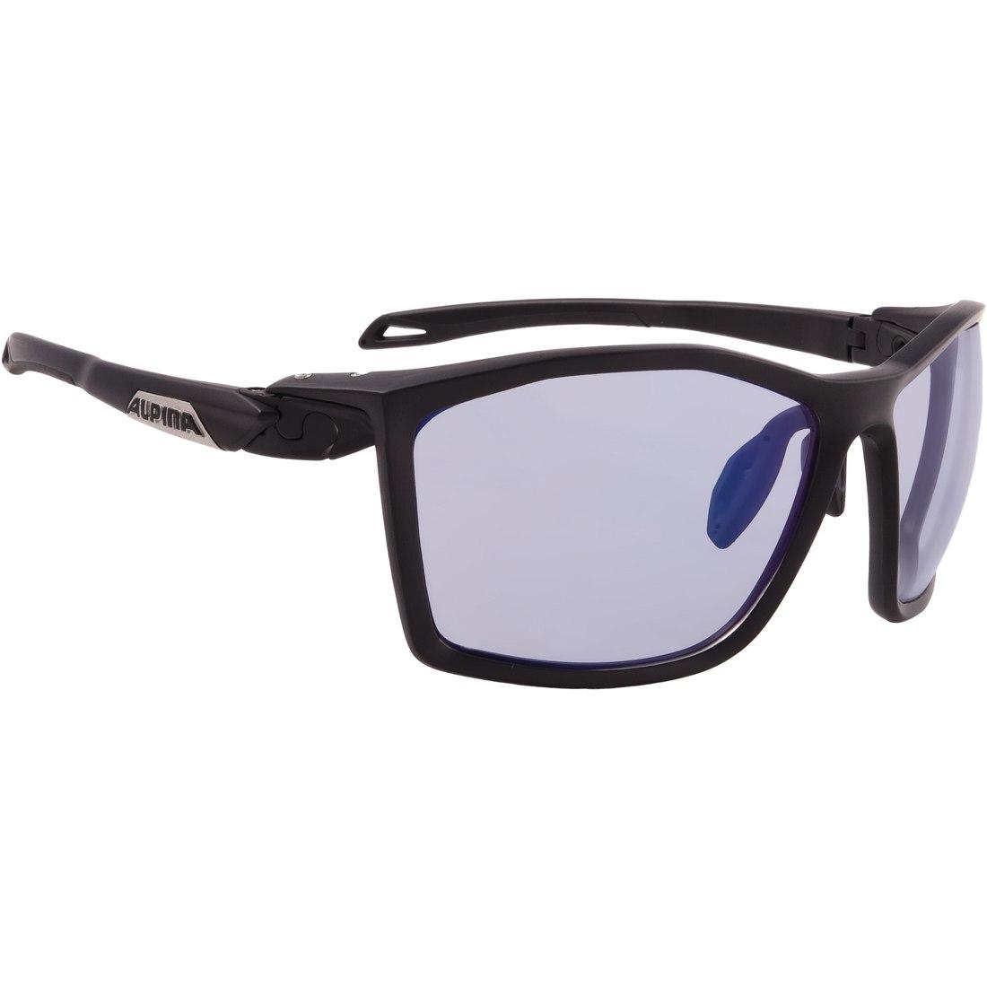 Alpina Twist Five VLM+ black matt/Varioflex Blue mirror - Glasses