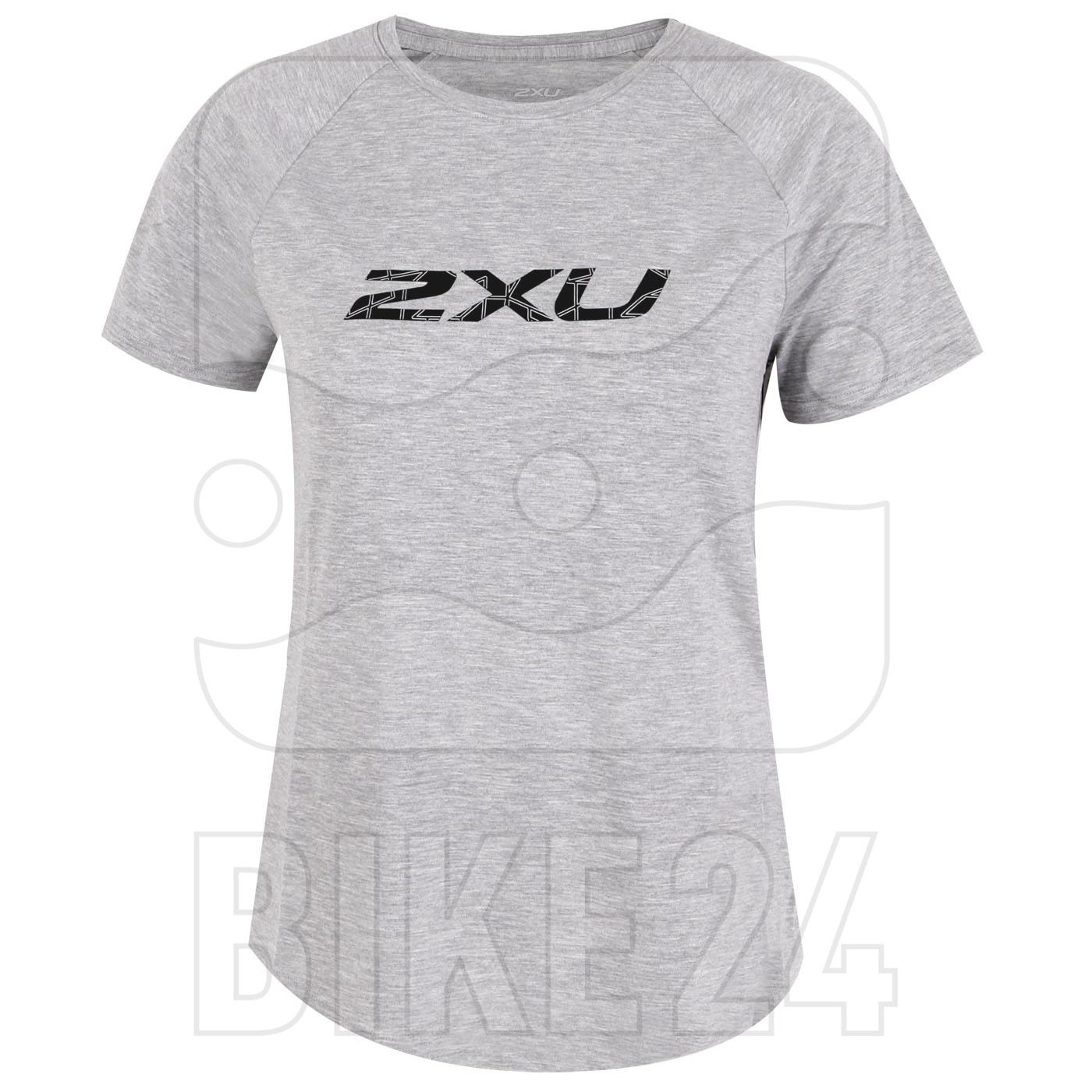 Imagen de 2XU CONTENDER Camiseta para mujer - grey marle/geo lines