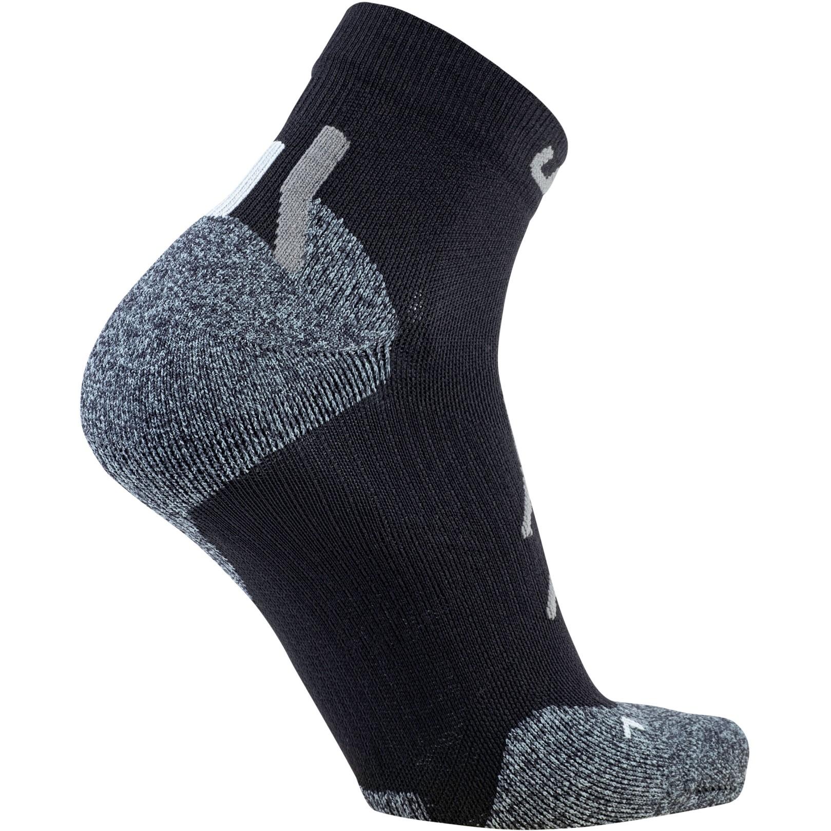 Image of UYN Lady Trekking Approach Low Cut Socks - Black/Grey