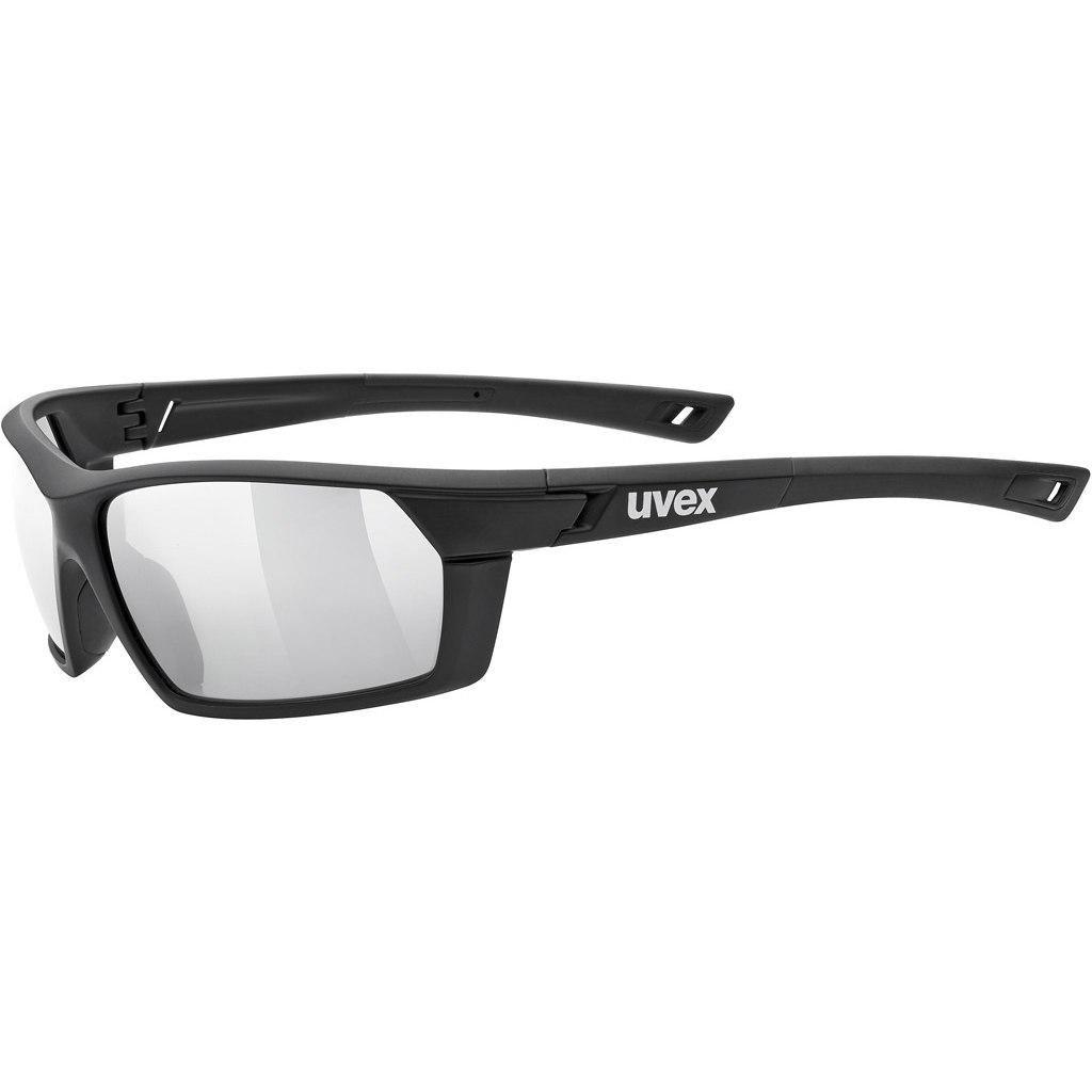 Uvex sportstyle 225 Brille - black mat/litemirror silver
