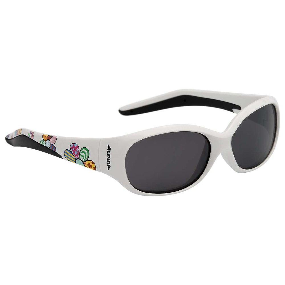 Alpina Flexxy Kids Glasses - white flower / black