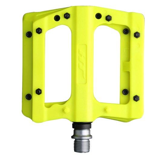 HT PA12A NANO P Flat Pedal Aluminium - neon yellow