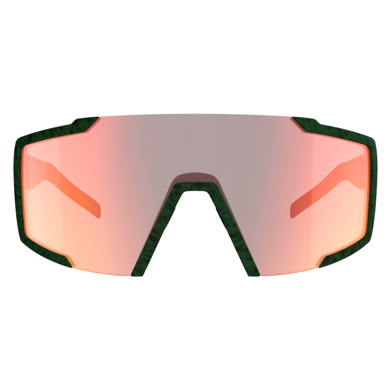 Image of SCOTT Shield Sunglasses - iris green / red chrome enhancer