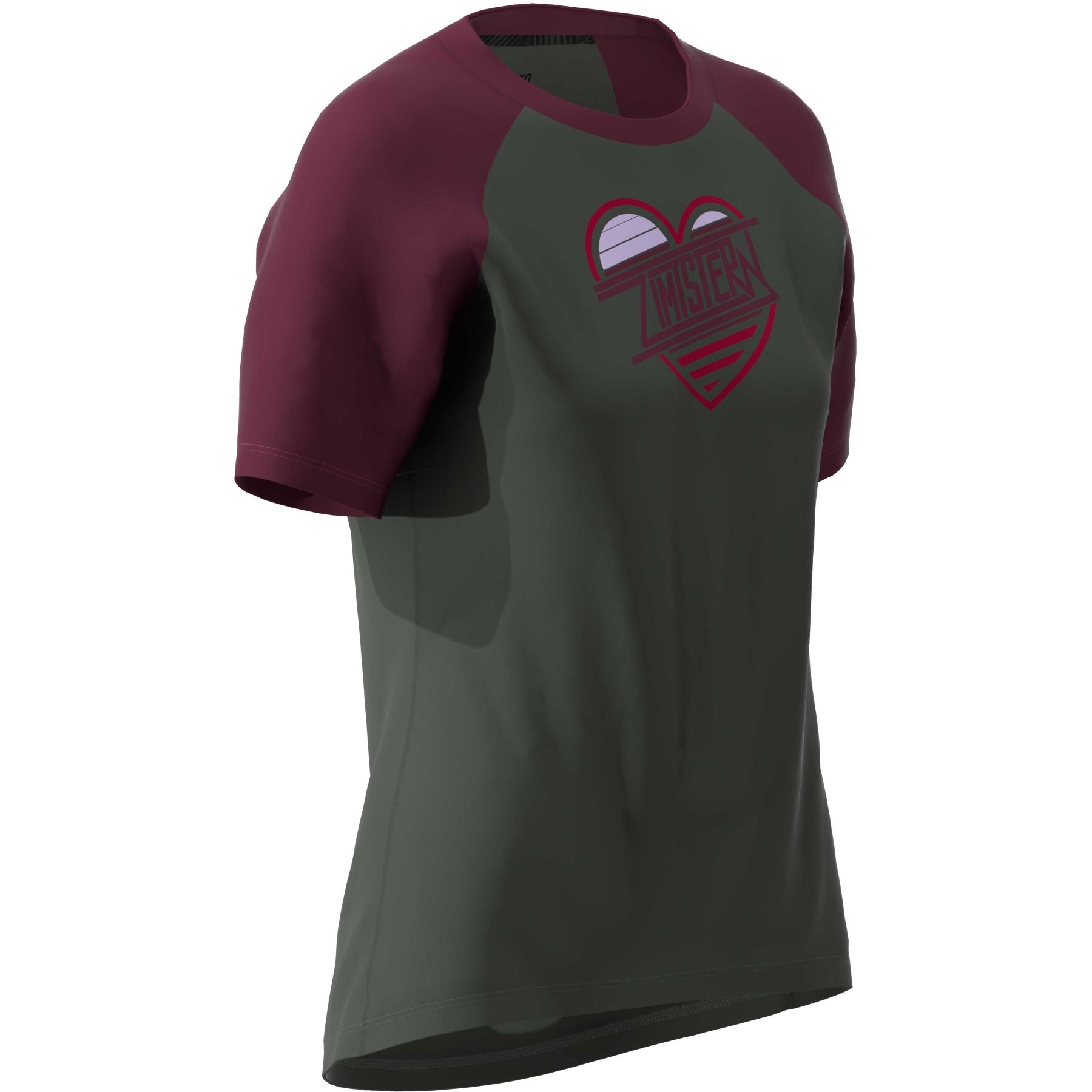 Bild von Zimtstern Heartz T-Shirt Damen - gun metal/windsor wine