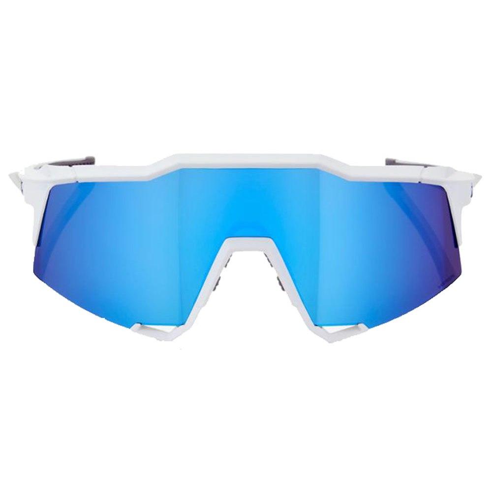 100% Speedcraft - Tall - HiPER Mirror Gafas - Matte White/Blue Multilayer + Clear