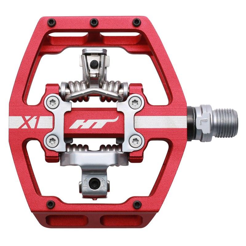 Produktbild von HT X1 Klickpedal Aluminium - rot