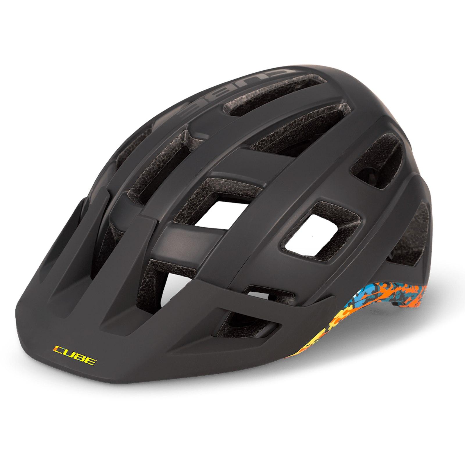 CUBE Helmet BADGER - black´n´splash