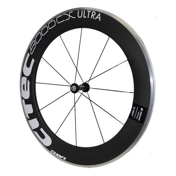 CITEC 8000 CX / 80 Ultra Carbon 28 Inch Front Wheel - Clincher - 9x100mm QR - white/black