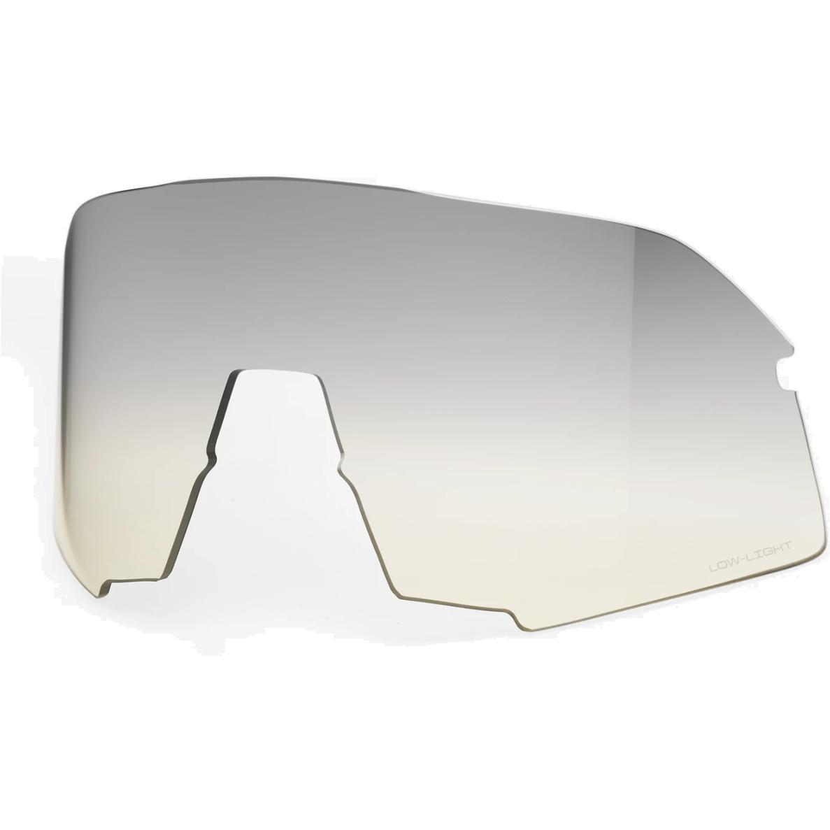 100% S3 Mirror Lente de repuesto - Low-Light Yellow Silver