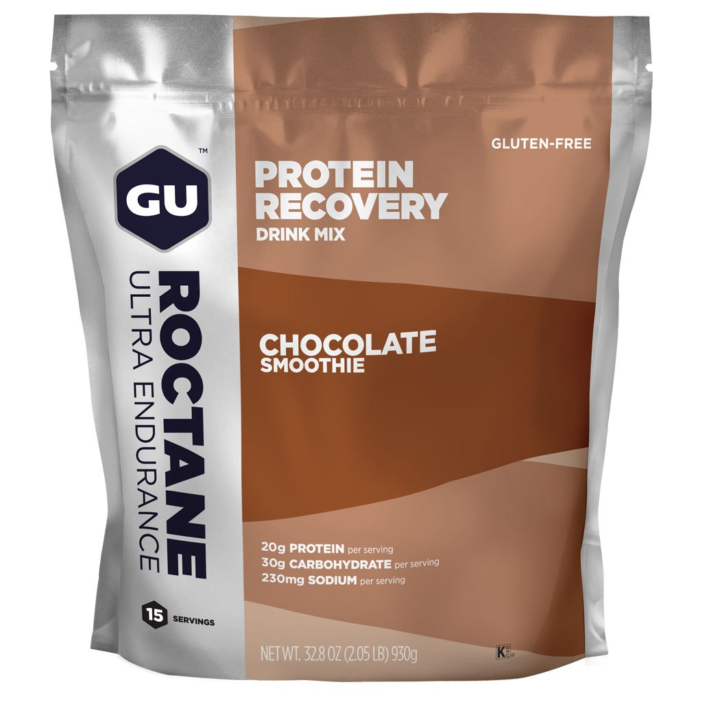 GU Roctane Recovery Protein Drink Mix (Chocolate Smoothie) - Beverage Powder - 930g