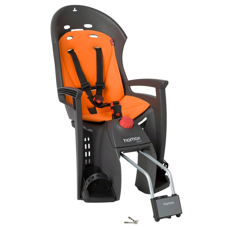 Hamax Siesta Fahrrad-Kindersitz - Grey/Orange