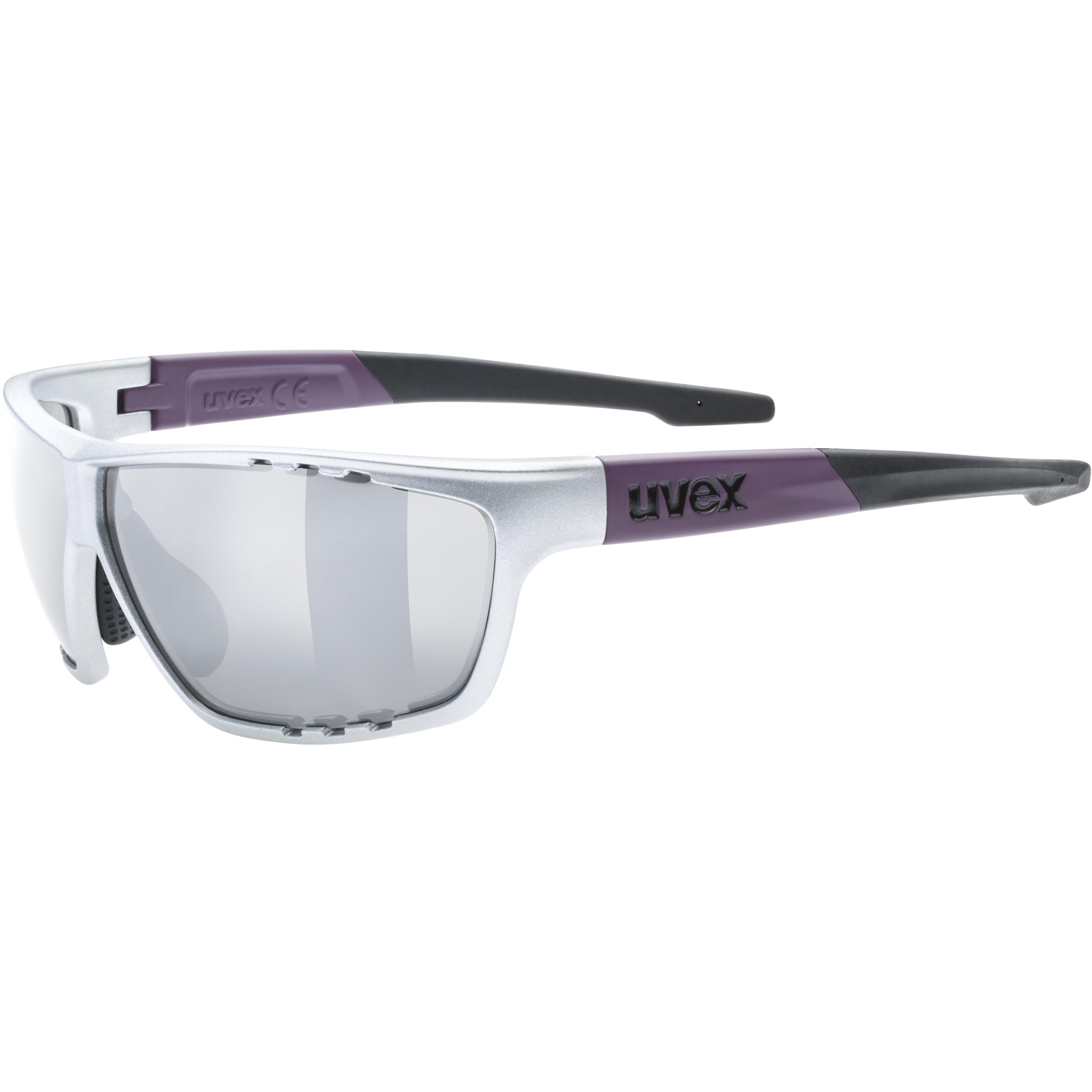 Uvex sportstyle 706 Glasses - silver plum mat/litemirror silver