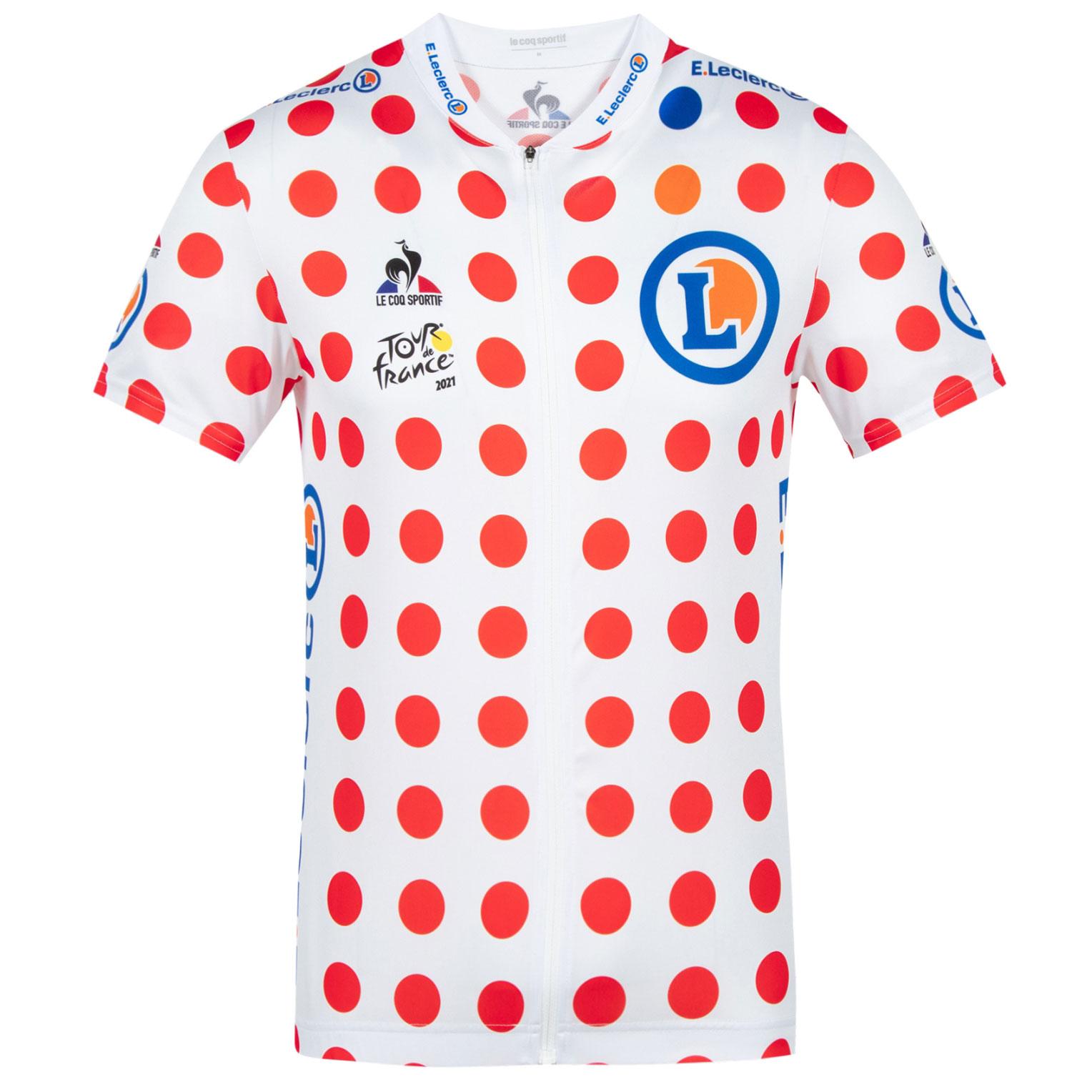 Le Coq Sportif Tour de France™ 2021 Collection Replica Kinder Kurzarm-Trikot - Gepunktet