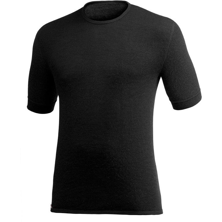Woolpower Tee 200 Unisex Kurzarm-Unterhemd - schwarz