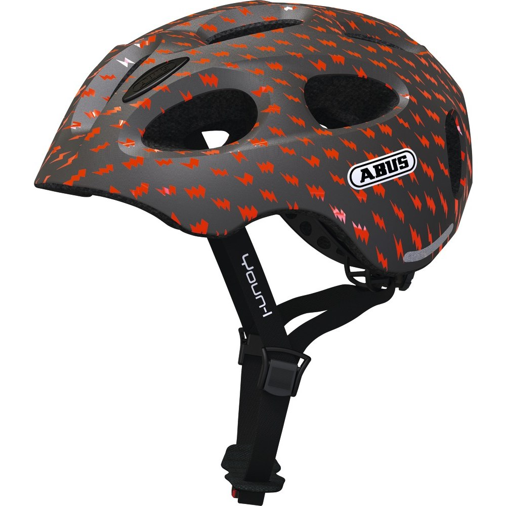ABUS Youn-I Kids Helmet - grey lightning