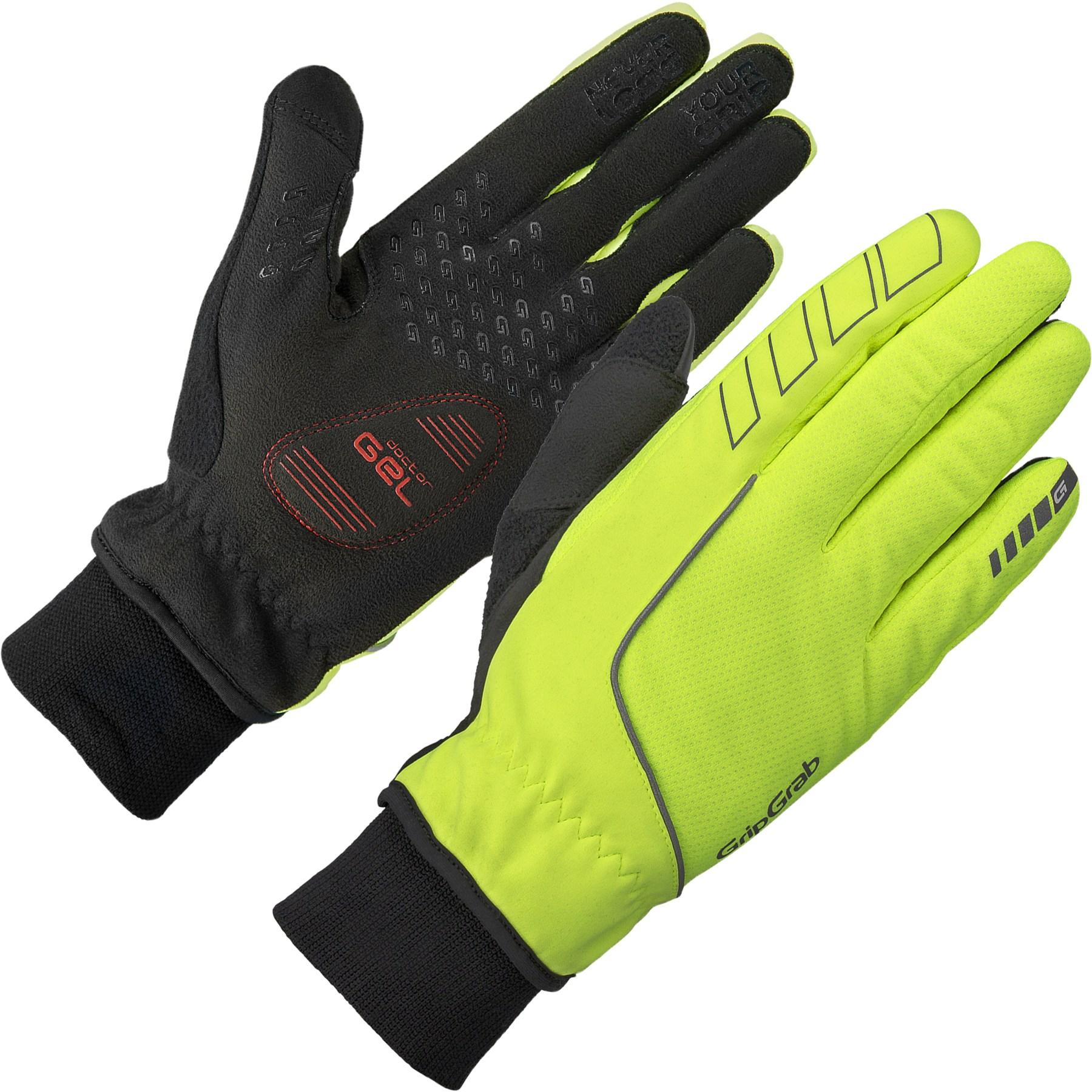 GripGrab Windster Hi-Vis Windproof Winter Glove - Yellow Hi-Vis