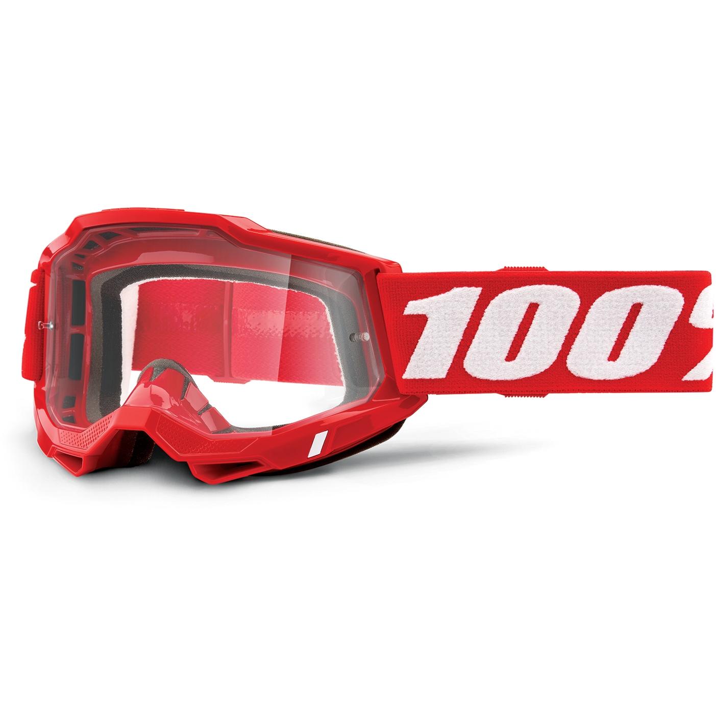 Imagen de 100% Accuri 2 Goggle Clear Lens Gafas - Neon Red