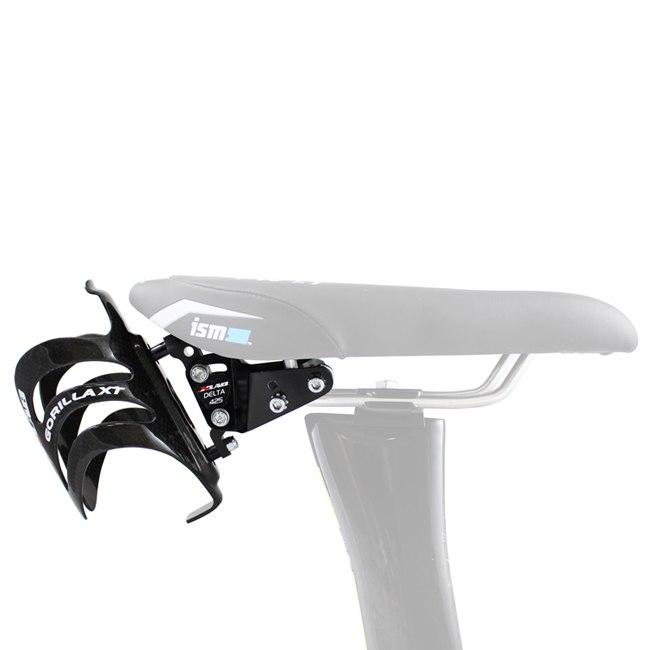 Bild von XLAB Delta 425 Adapter für ISM Adamo Sattel / Fizik Tritone + Gorilla Carbon Flaschenhalter - schwarz