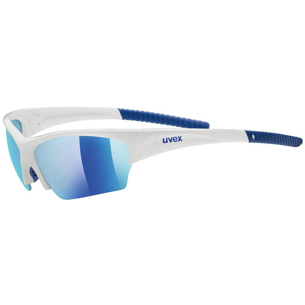 Uvex sunsation - white blue/mirror blue Brille