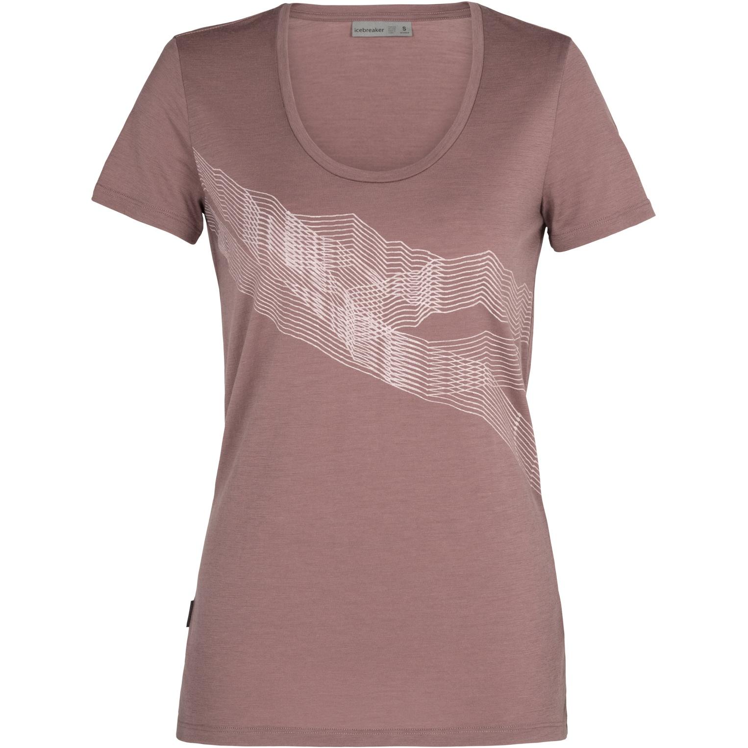 Produktbild von Icebreaker Tech Lite Scoop St Anton Damen T-Shirt - Suede