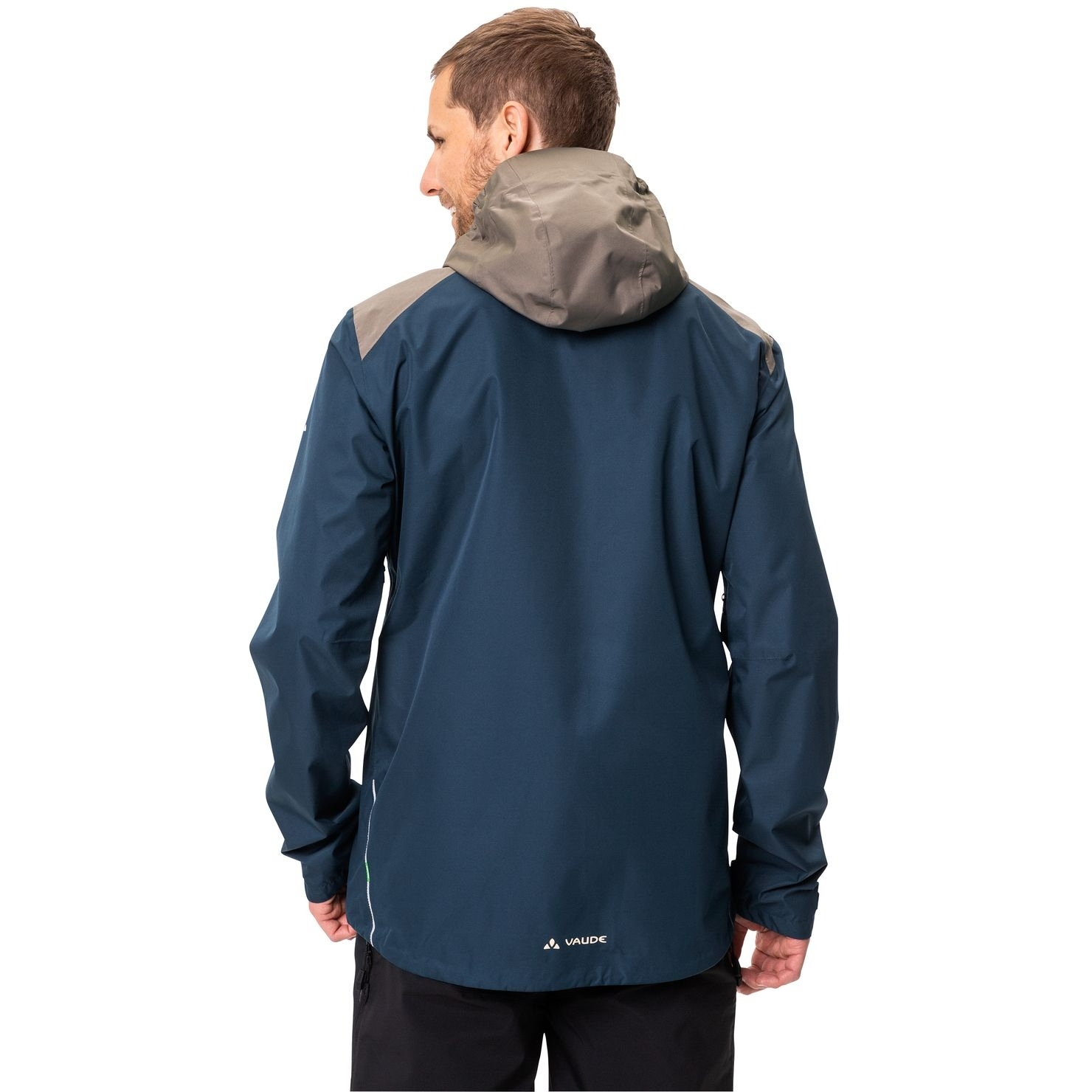 Image of Vaude Men's All Year Moab 3in1 Rain Jacket - dark sea