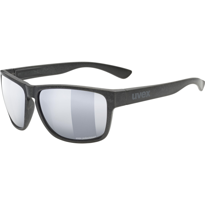 Uvex lgl ocean P Brille - black mat - polavision mirror silver