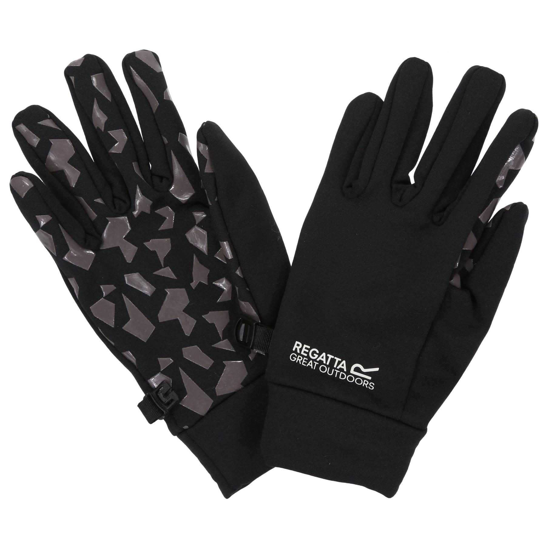 Picture of Regatta Grippy Kids Gloves - 92B Black/Magnet