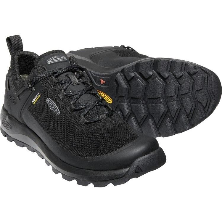 Image of KEEN Citizen Evo Waterproof Knit Sneaker - Triple Black / Black