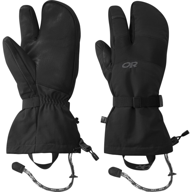 Picture of Outdoor Research Men's Highcamp 3-Finger Gloves - black