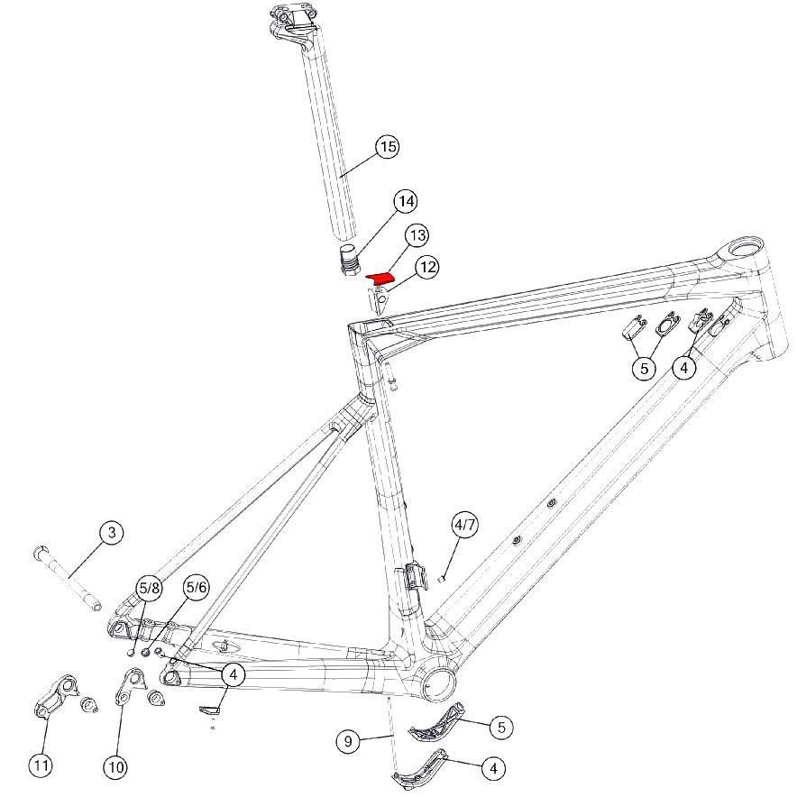 BMC Seatpost Clamp Cover Kit - 301270 - (301275 - 301276)