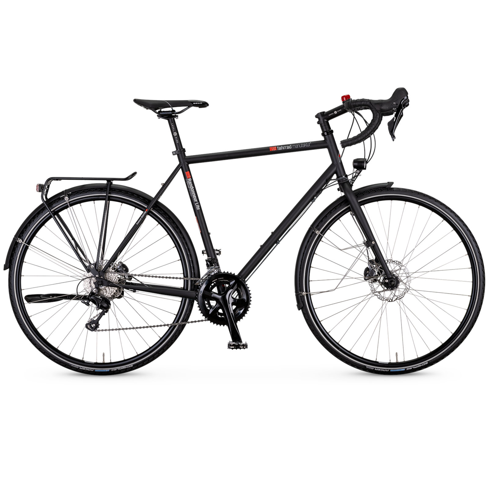 Image of vsf fahrradmanufaktur T-Randonneur Lite - Men Trekking Bike - 2022 - ebony matte