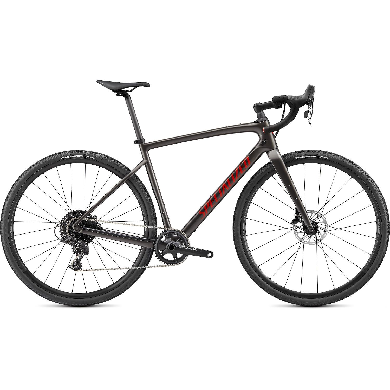 Specialized DIVERGE Carbon Apex - Bicicleta Gravel - 2021 - humo brillante/madera rojiza