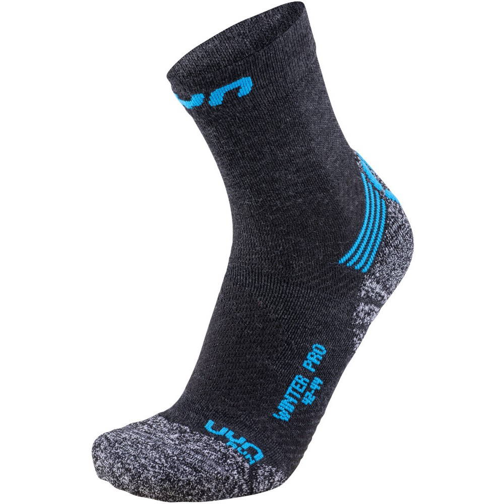 UYN Running Winter Pro Run Socken - Anthracite/Azure