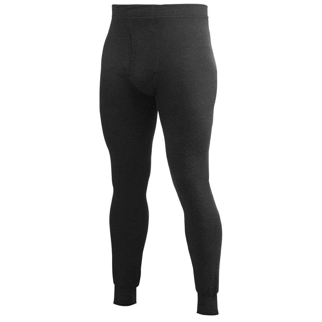 Woolpower Long Johns man 400 Unterhose mit Eingriff - schwarz