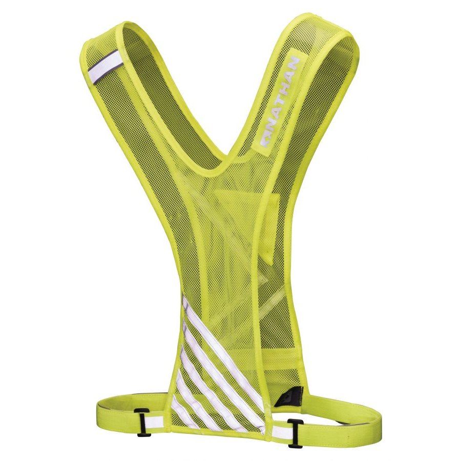 Nathan Sports Bandolier Reflective Vest - safety yellow