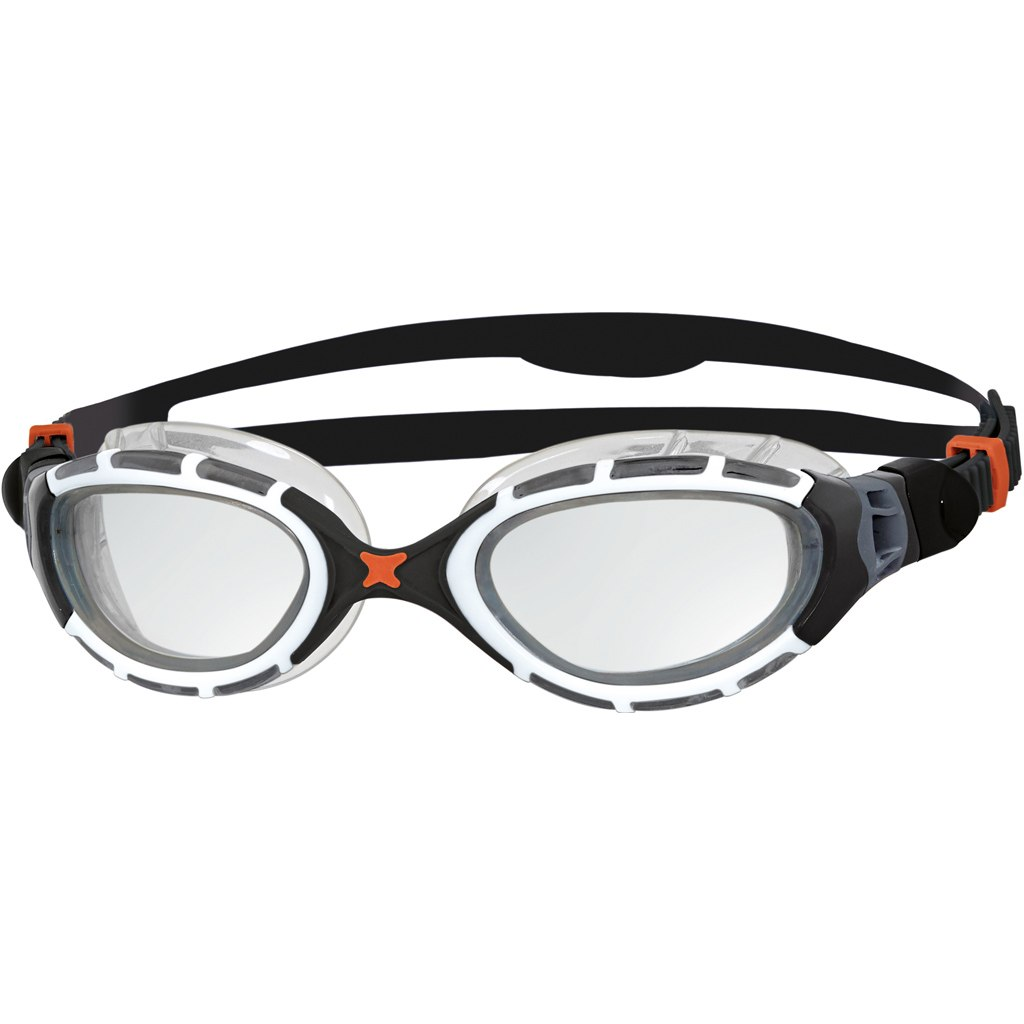 Zoggs Predator Flex Schwimmbrille - weiß/schwarz/klar