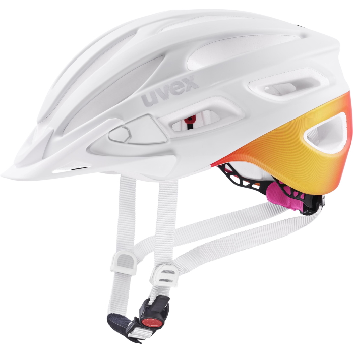 Uvex true cc Helm - white - peach mat
