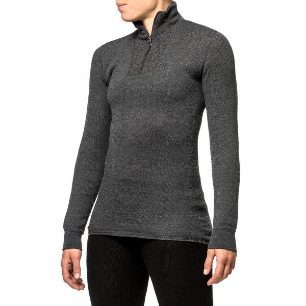 Image of Woolpower Zip Turtleneck 200 Unisex Undershirt - grey