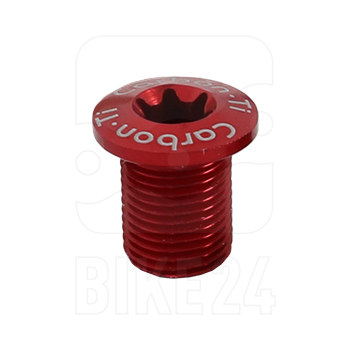 Carbon-Ti X-Fix XL Chainring Fixing Bolt - Male - 1 Piece - red